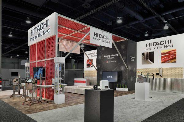 Hitachi Exhibit Pack Expo, Las Vegas DesignShop Padgett and Company Job#4160
